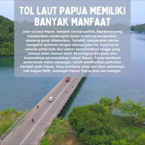 Tol Laut Papua Memiliki Banyak Manfaat