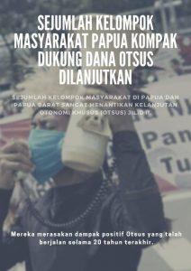 Sejumlah Kelompok Masyarakat Papua Kompak Dukung Dana Otsus Dilanjutkan