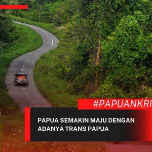 Papua Semakin Maju Dengan Adanya Trans Papua