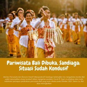 Pariwisata Bali Dibuka