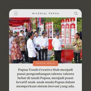 Presiden Jokowi Sebut Papua Youth Creative Hub Merupakan Masa Depan
